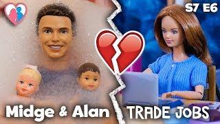 "S7 E6 ""Midge & Alan Trade Jobs"" | The Barbie Happy Family Show"