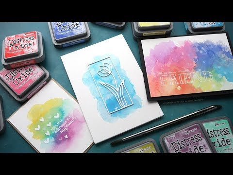 3 Ways to Watercolor with Distress Oxide Inks