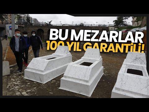 İlk Kez Trabzon'da Satışa Sunulan Fiberglass Mezarlar Dikkat Çekiyor