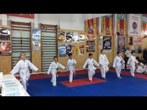 Аттестационный экзамен 09.10.2016 г. по каратэ в клубе Тигренок ч. 5