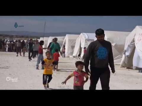 النازحون في مخيم دير بلوط يشكون نقص الغذاء