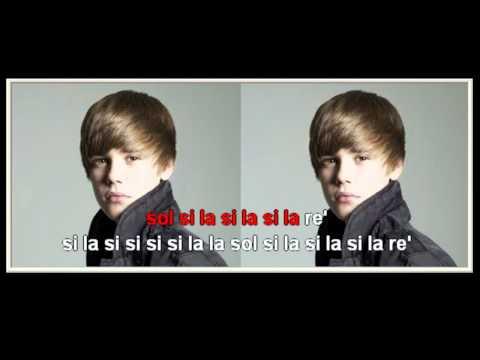 Justin Bieber - Baby - flauta dulce notas - Partitura - Recorder - Score