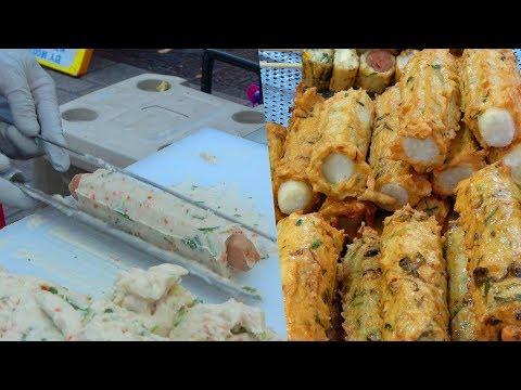 Korean Street Food - Fish Cake Bar with Cheese, Sausage