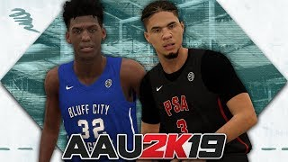 NBA 2K19 - AAU 2K19 - Cole Anthony vs James Wiseman