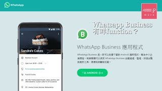 Whatsapp business 有咩function?