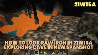 Exploring Cave in 21w15a | Relaxing Gameplay | MInecraft 1.17 21w15a Cave & Cliffs