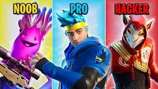 NOOB vs PRO vs HACKER - Fortnite Battle Royale