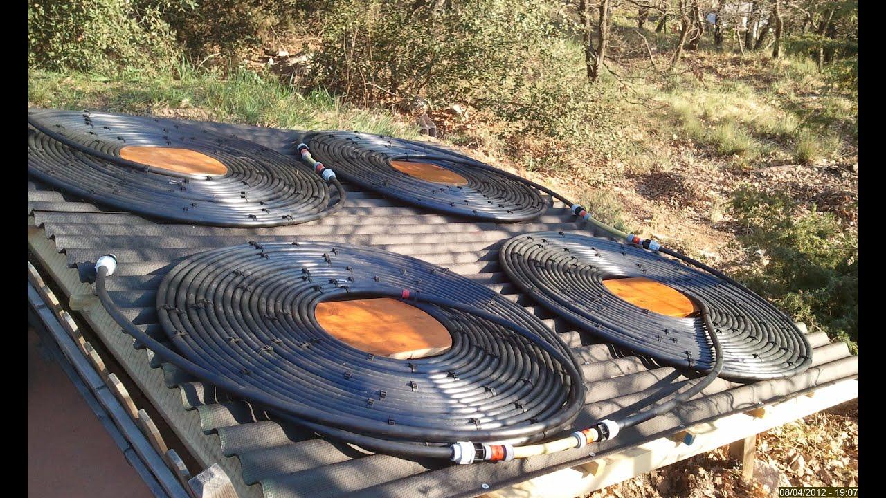 chauffage solaire piscine 65m3 youtube. Black Bedroom Furniture Sets. Home Design Ideas