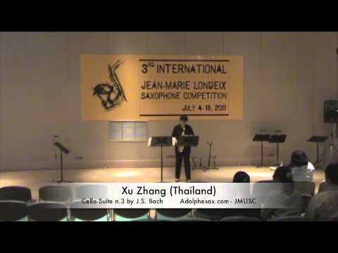 Xu Zhang Thailand Cello Suite n 3 by J S  Bach