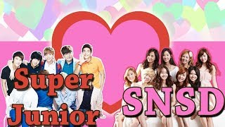 "When ""SUJU"" Super Junior meet SNSD Funny & Romance moments"