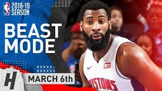 Andre Drummond Full Highlights Pistons vs Timberwolves 2019.03.06 - 31 Pts, 15 Reb, BEAST