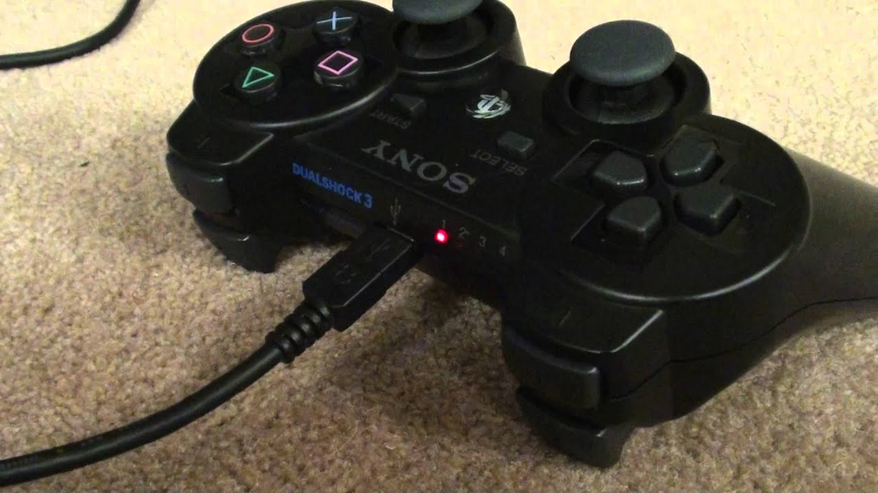 PS3 controller not charging? try this - YouTube