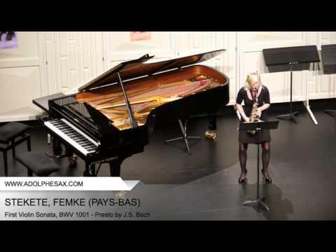 Dinant 2014 STEKETEE Femke First Violin Sonata, BWV 1001 Presto by J S Bach