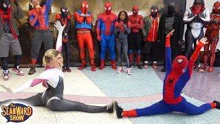 Spider-Man: SPIDER-VERSE vs Comic Con! Epic Cosplay Battle - The Sean Ward Show