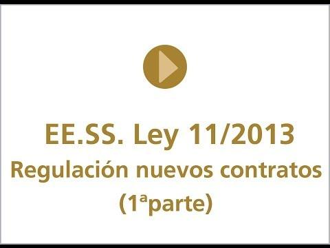 I Regulación nuevos contratos ee.ss.
