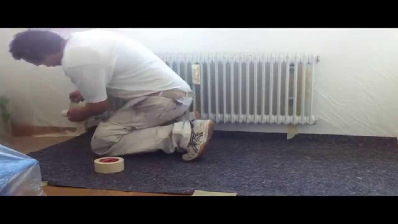 so geht 39 s heizk rper lakieren spraydose spritzen youtube. Black Bedroom Furniture Sets. Home Design Ideas