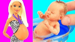 10 DIY Barbie Hacks: Pregnant Doll, hat, pencil case, clothes, and more