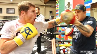 CANELO IN SAVAGE MODE FOR BJ SAUNDERS, SMASHES THE MITTS WITH EDDY & KILLS THE FIERCE REFLEX BAG
