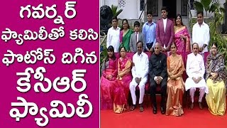 CM KCR Family Photos with Governor Narasimhan Family..