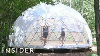 Camp Out In A Giant Clear Dome In The New York Woods