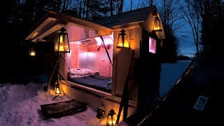 Tiny Cabin Sled / Solar Powered & Water Heated / Making Maple Syrup / Log Cabin Update- Ep 11.7