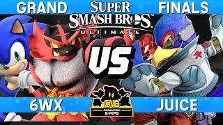 Smash Ultimate Tournament Grand Finals - 6WX (Incineroar / Sonic) vs Juice (Falco) - CNB 197
