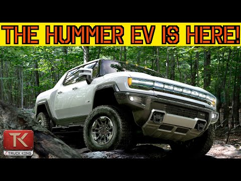 The NEW Hummer is Here! Meet the 2022 GMC Hummer EV - Air Suspension, Four-Wheel Steering and More!