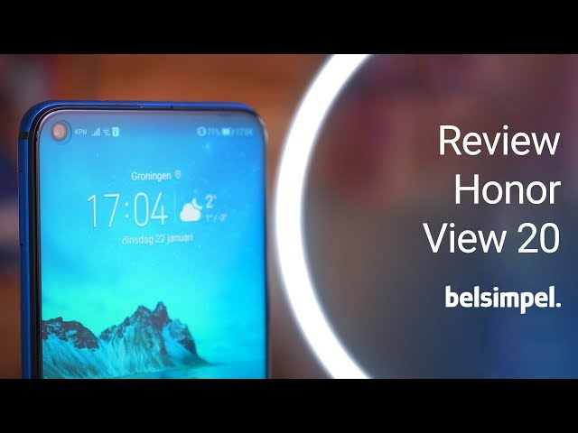 Belsimpel-productvideo voor de Honor View 20 Moschino Edition Phantom Blue