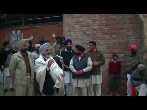Sikhs at Chupkiti Village (Moga) Questions to former DGP and Badal Dal Candidate for 2012 Elections