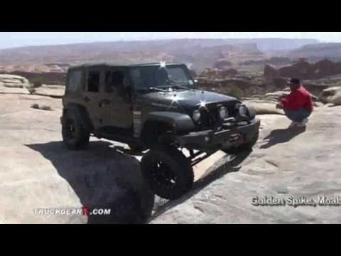 Velocity Off-Road Jeep JK leveling kit testing at MOAB 2010
