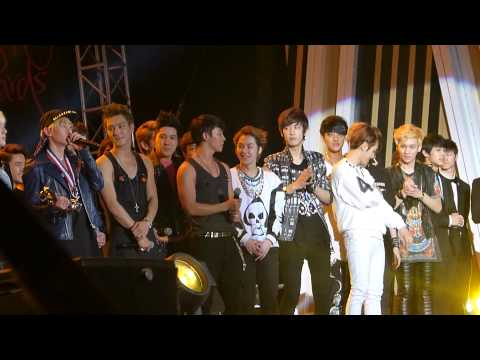 130115 ending EXO SJ @ GDA 2013 엑소 Golden Disk Awards 【HD】 fancam