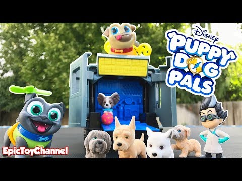 Disney Puppy Dog Pals Bingo and Rolly Rescue Puppies from Romeo PJ Masks & New Puppy Dog Pals Toys