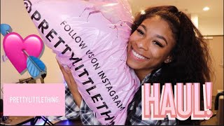 New Year, NEW WARDROBE! Pretty Little Thing Try-on Haul! | TaJiah Gary