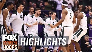 Michigan State vs Northwestern | Highlights | FOX COLLEGE HOOPS