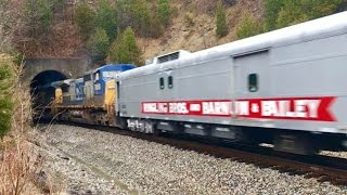 Last Ringling Bros. And Barnum & Bailey Circus Train To Cincinnati Ohio!  Tunnels & Trestle!