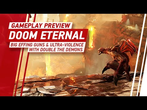 Doom Eternal Gameplay - Big Effing Guns and Ultra-Violence With Double The Demons