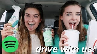 DRIVE WITH US! current music playlist & eating tacobell