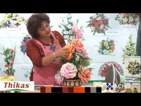 Rosas Moldes de Flores para hacer Arreglos Florales en Fomi, Goma EVA