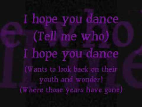 I Hope You Dance Lyrics