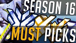 Season 16 Must Pick Heros | ALL Roles