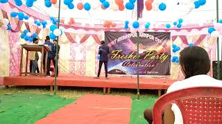 Mechanical First Year Student{My Friend} Sing A Beautiful Song in Fresher Party Part 4