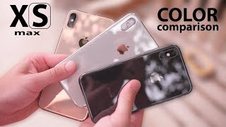 iPhone XS (Max) GOLD vs SPACE GREY vs SILVER!