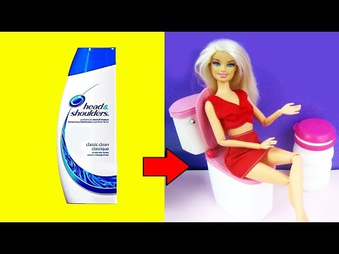"How to make a ""working"" toilet for your doll - Recycling"