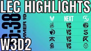 LEC Highlights ALL GAMES Week 3 Day 2 Summer 2019 League of Legends EULCS