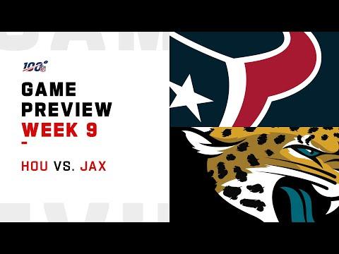 Houston Texans vs Jacksonville Jaguars Week 9 NFL Game Preview
