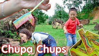 Trò Chơi Ăn Kẹo Chupa Chups Cầu Vồng ❤ BonBon TV ❤ Kẹo Chua Chupa Chups