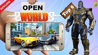 Top 5 Android offline open world games | Hindi