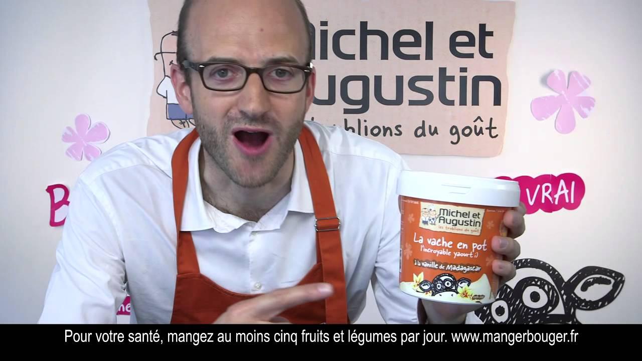 Publicité Michel et Augustin – la vache en pot