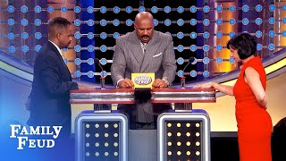 Guys, NO WOMAN believes THIS is why you're home late! | Family Feud
