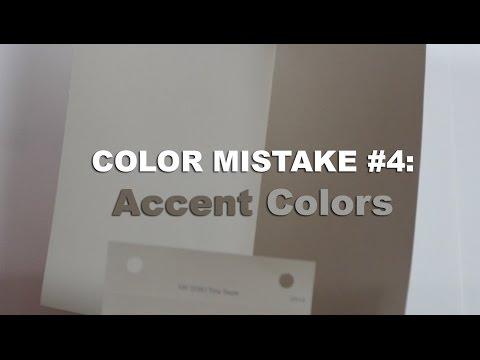 Color Mistake #4 - ACCENT COLORS